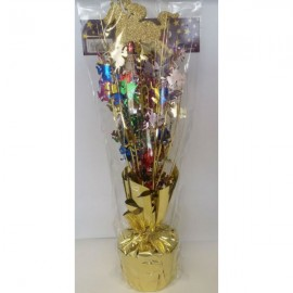 Centrepiece Horse Gold with Multi Coloured