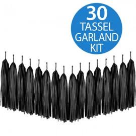 Tassel Garland Tissue Paper Black