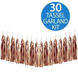 Tassel Garland Rose Gold Metallic Foil