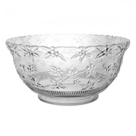 Embossed Punch Bowl Clear 11.36L