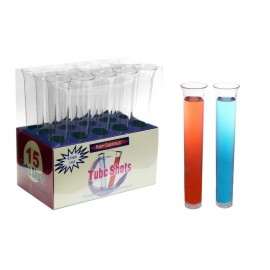 Test Tube Shot Glasses Clear Plastic