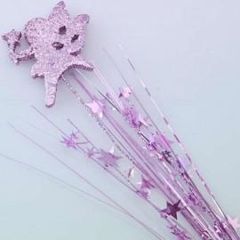 Spray Foam & Stars Fairy Pink 3D Glittered