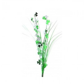Onion Grass Shamrocks Green & White Spray