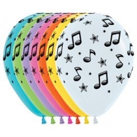30cm Music Notes Fashion Assorted Latex Balloons