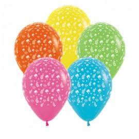 30cm Hawaiian Tropical Fashion Assorted Latex Balloons