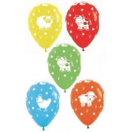 30cm Farm Animals Fashion Assorted Latex Balloons