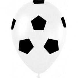30cm Soccer Balls Print Black & White Latex Balloons