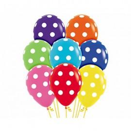 30cm Polka Dots on Fashion Assorted Ltex Balloons
