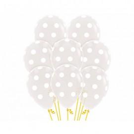 30cm Polka Dots on Crystal Jewel Diamond Clear