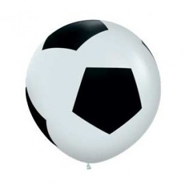 90cm Soccer Ball All Over Print Latex Balloon