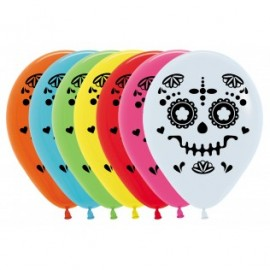 30cm Day of The Dead Catrina Latex Balloons