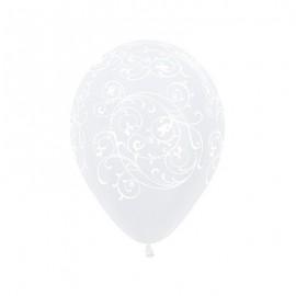 30cm Filigree Diamond Clear Latex Balloons