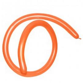160QT Fashion Orange Modelling Latex Balloons