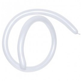 160QT Pearl Satin White Modelling Latex Balloons