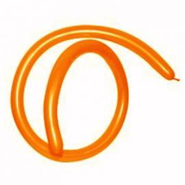 160QT Metallic Pearl Orange Modelling Latex Balloons