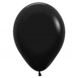 12cm Fashion Black Latex Balloons