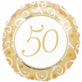 45cm 50th Anniversary Gold & Silver Filigree