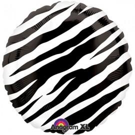 45cm Black Zebra Print Black & White