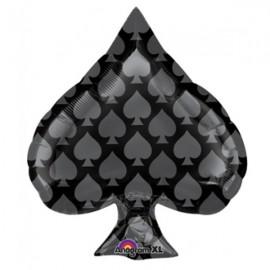 Junior Shape Black Spade Casino Party