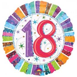 45cm 18 Radiant Birthday Holographic