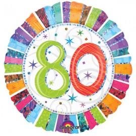 45cm 80 Radiant Birthday Holographic