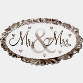 Shape Mr & Mrs Wedding