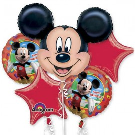Mickey Mouse Bouquet 1 x Super Shape & 4 x 45cm