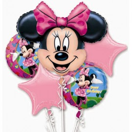 Minnie Mouse Bouquet 1 x Super Shape & 4 x 45cm