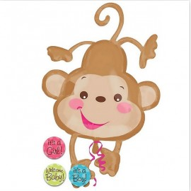 Shape Fisher Price Baby Monkey & 3 Stickers