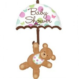 Shape Baby Shower Bear & Umbrella