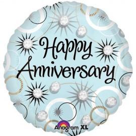 45cm Happy Anniversary Diamonds