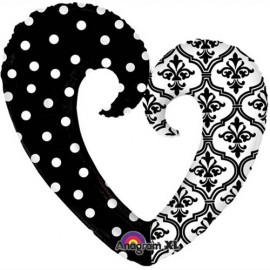 Shape Heart Damask and Dots
