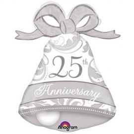 Shape 25th Anniversary Silver Elegant Bell