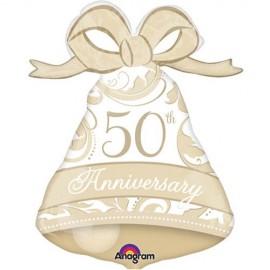 Shape Gold Elegant 50th Anniversary Bell