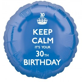 45cm Keep Calm It's You 30th Birthday