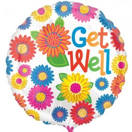 45cm Get Well Primary Assorted Flowers