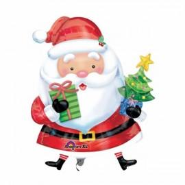 Shape Santa with Tree 78cm x 66cm