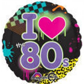 45cm Totally 80's - I Love the 80's