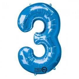 Shape Number Three Blue, Helium Saver