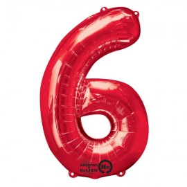 Shape Number Six Red, Helium Saver