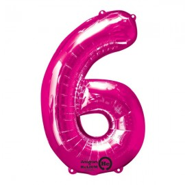 Shape Number Six Pink, Helium Saver