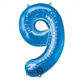 Shape Number Nine Blue, Helium Saver
