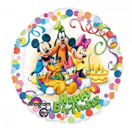 45cm Mickey & Friends Happy Birthday