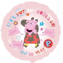 45cm Peppa Pig ' Let's Put our Boots On'