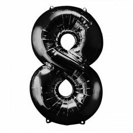 Shape Number Eight Black Helium Saver