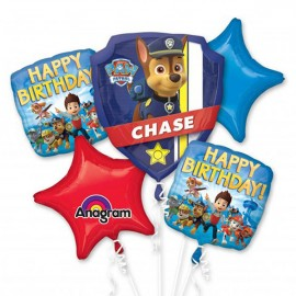 Paw Patrol Bouquet Happy Birthday!  - 1 x Shape & 4 x 45cm