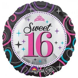 45cm Sweet 16 Sparkle Birthday