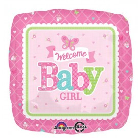 45cm Welcome Baby Girl Butterfly