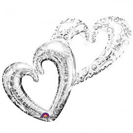 Shape Interlocking Hearts Silver