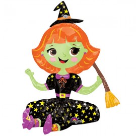 Shape Sitting Witch - Makes for a Great Decoration